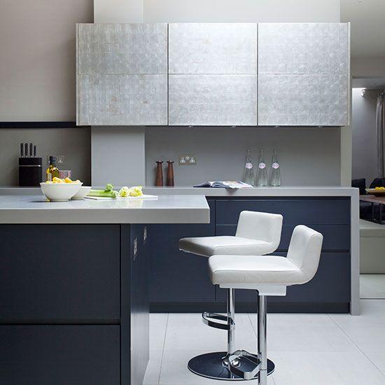 Best Modern Blue Black Kitchen Kitchen Dark Blue Kitchens 640 x 480