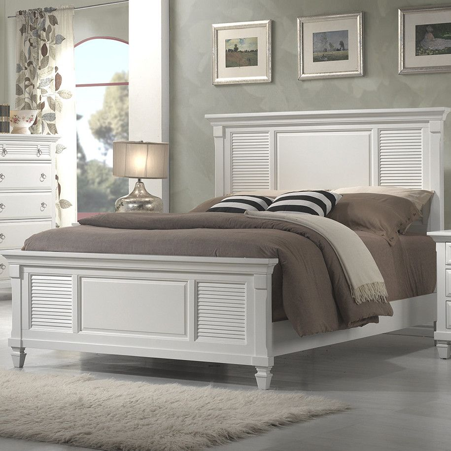 Alpine Furniture Winchester Shutter Panel Bed & Reviews