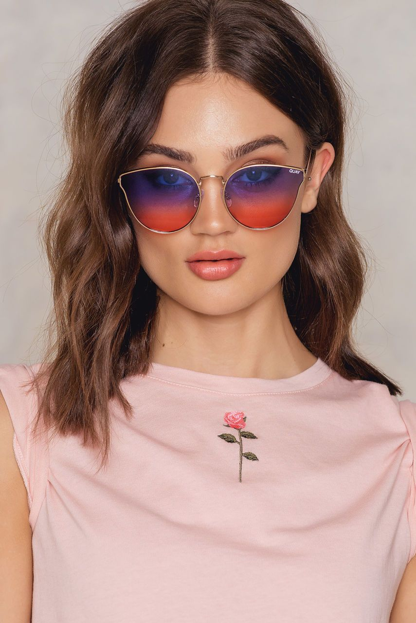 6512084d36 We ve got a retro twist on a classic style! The All My Love by Quay  Australia comes in Gold Purple Pink and features metal frames