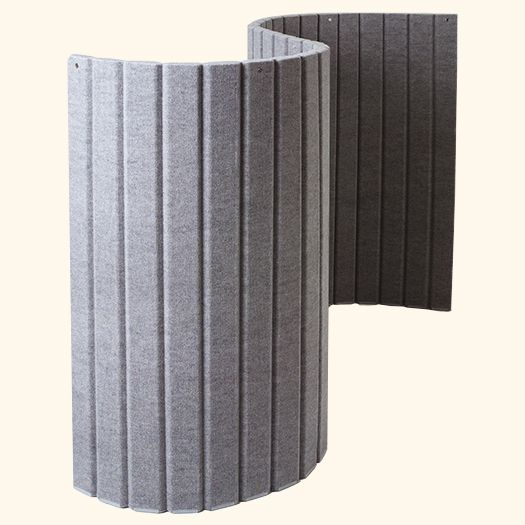 Flexible Fabric And Foam Wall Divider H Multiple Colors