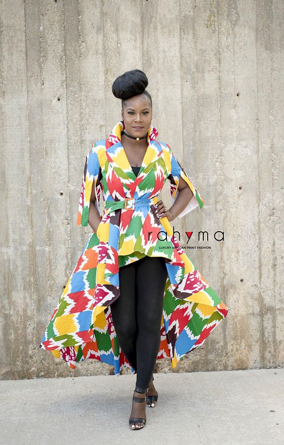 7d036d0e12a Rahyma Multi-colored High low Dress Jacket African fashion African Luxury  dresses African dresses