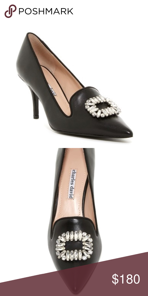 ced09ccf01d Charles David Amari Embellished Pump True to size. Pointed toe. Leather  construction. Gosgrain