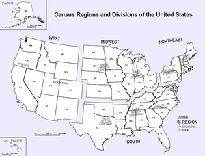 Census Regions and Divisions Map - Some people only want their ... on