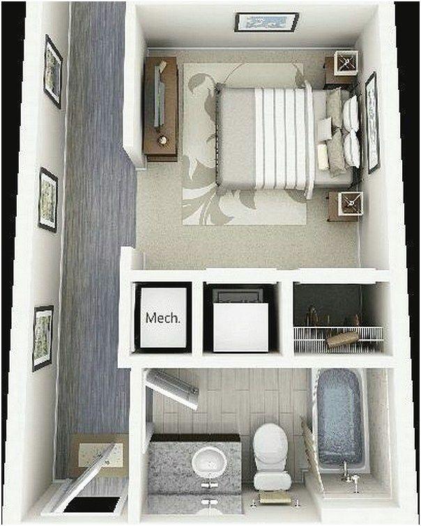 Sketsa Denah Rumah Kecil 1 Kamar Tidur Terbaru 3D | Denah Rumah, Rumah,  Desain Rumah