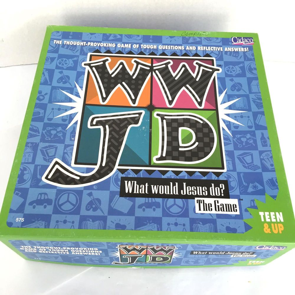 What Would Jesus Do Thought Provoking Board Game WWJD Cadaco 1998  #Cadaco