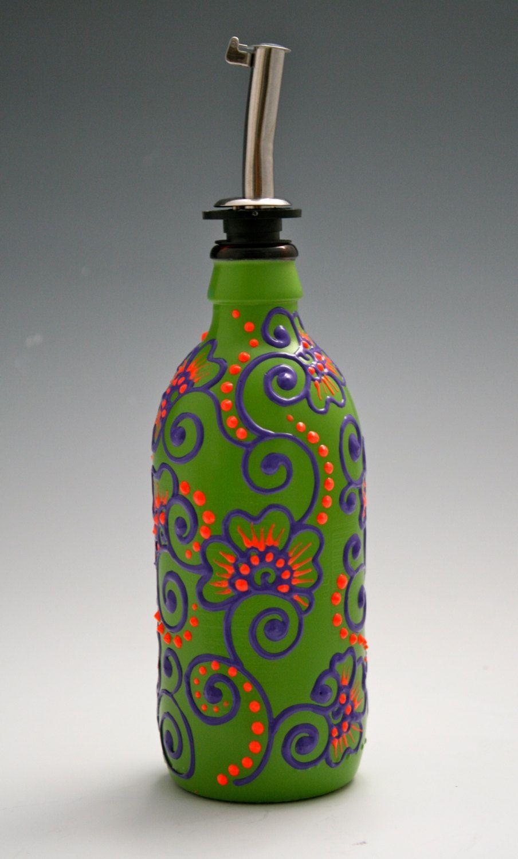 Resultado de imagem para painting vase vietnam for Hand painted bottles