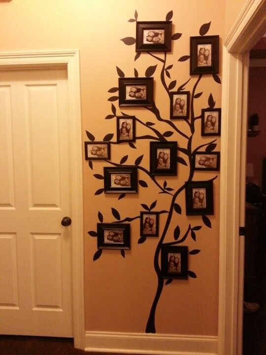 My Family Tree Photo Wall Walmart Tree Wall Stick Up And Dollar