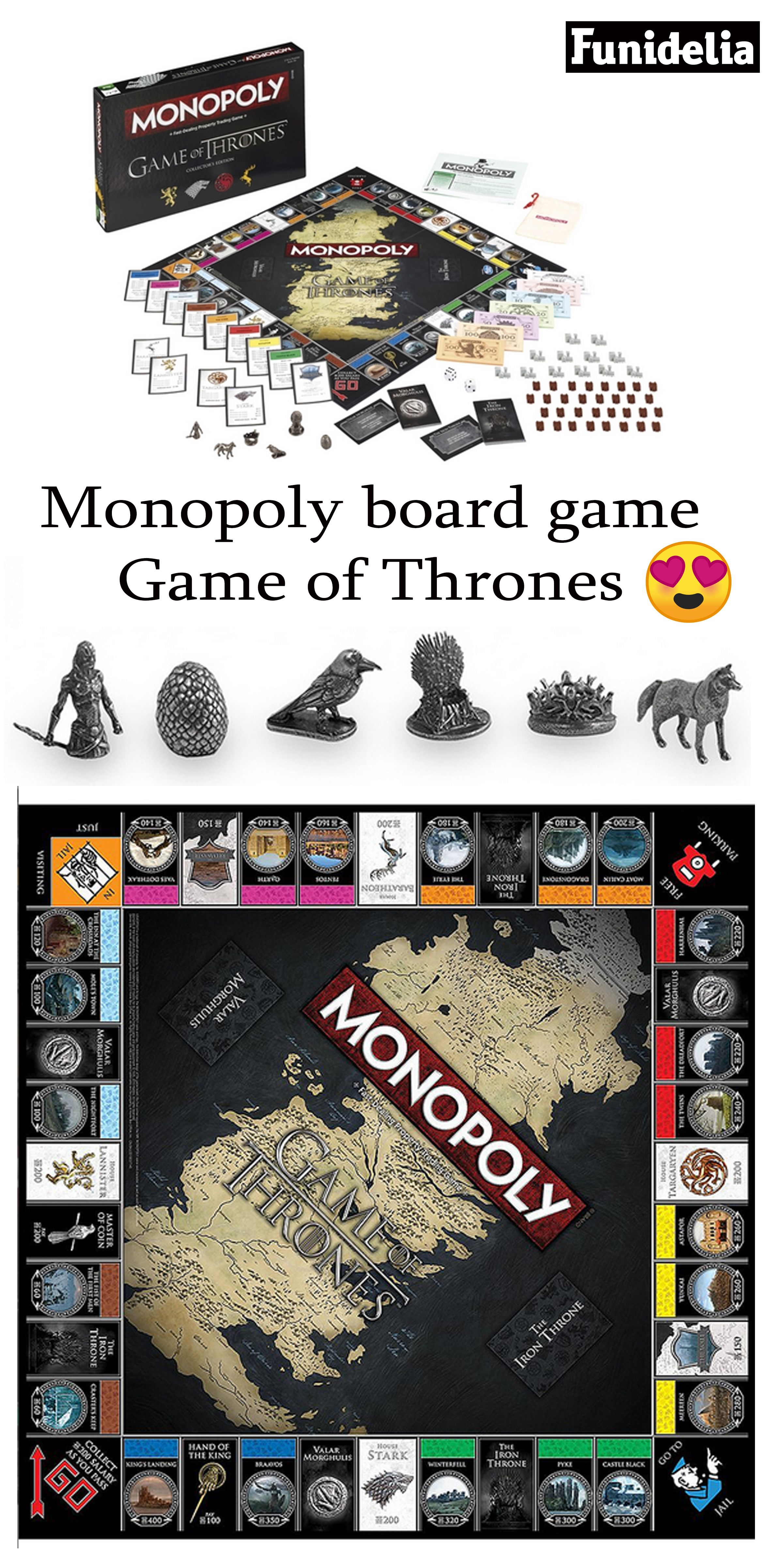 Monopoly Game Of Thrones Game Of Thrones Merchandise Game Of Thrones Gifts Game Of Thrones Illustrations