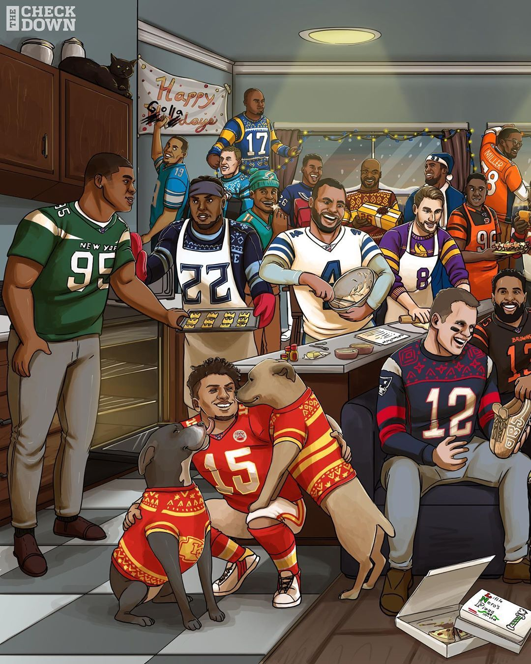 NFL Merry Christmas from the NFL family to yours! (via