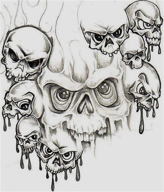 Pin140 Skull Tattoos Skull Artwork Skulls Drawing