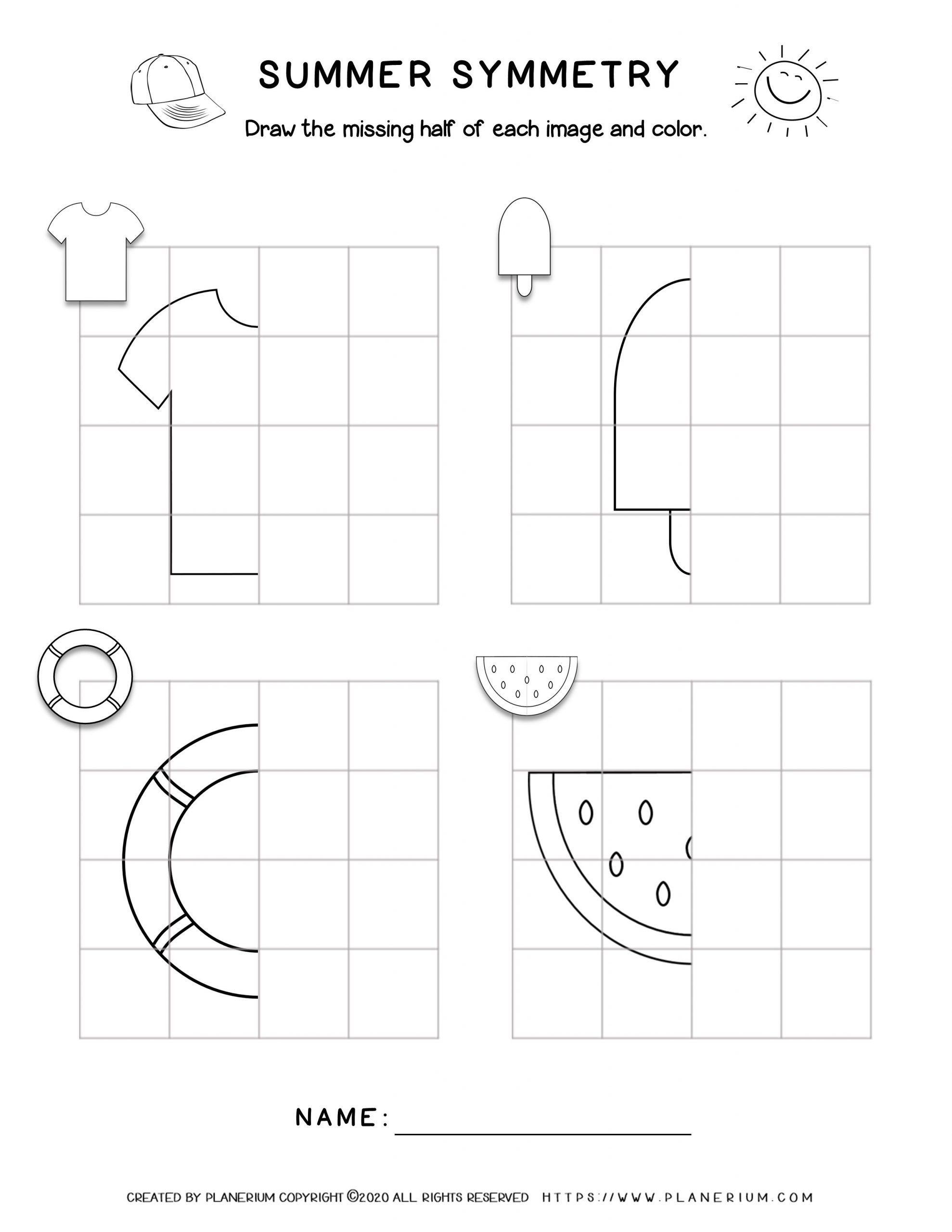 Worksheets2021 Summer Symmetry Drawing Symmetry Worksheets Symmetry Activities Symmetry