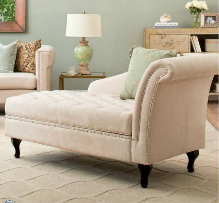 Grey Chaise Lounge Bedroom Indoor Chairs