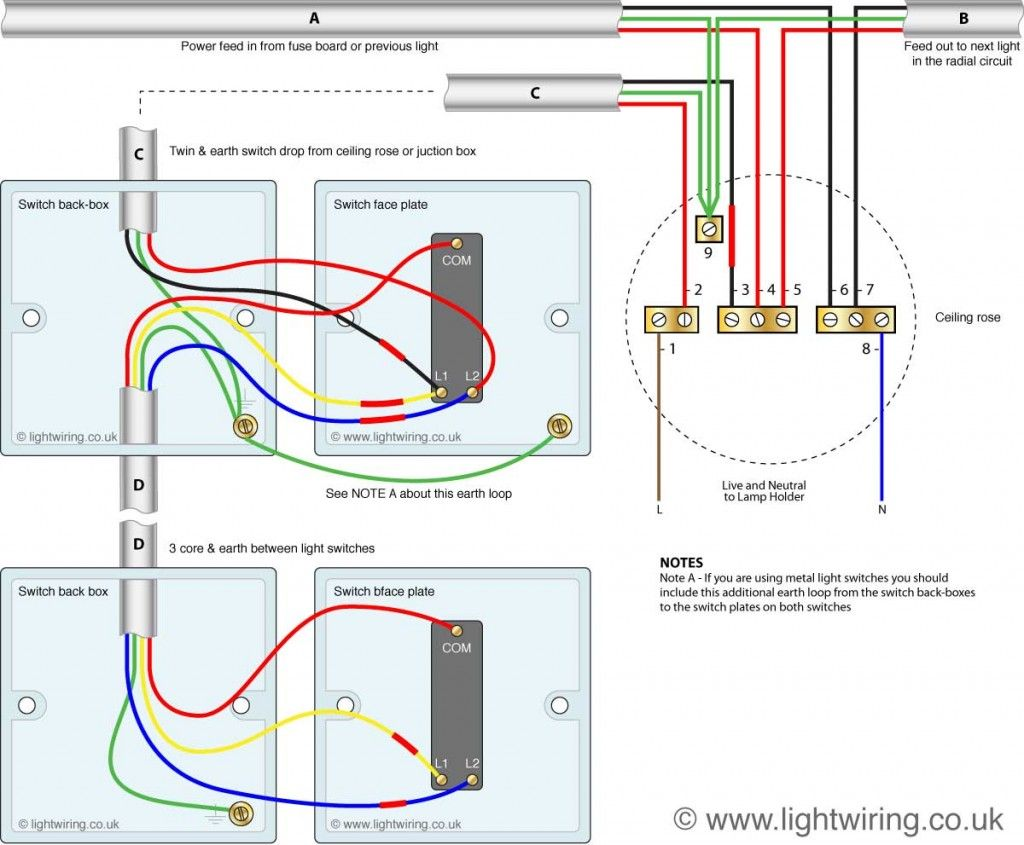 2 Switch 1 Light Wiring Diagram Light Switch Wiring Lighting Diagram Electrical Switch Wiring