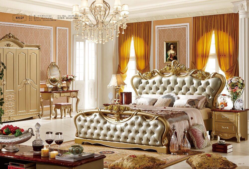 Luxury European style bedroom furniture set 0409-312