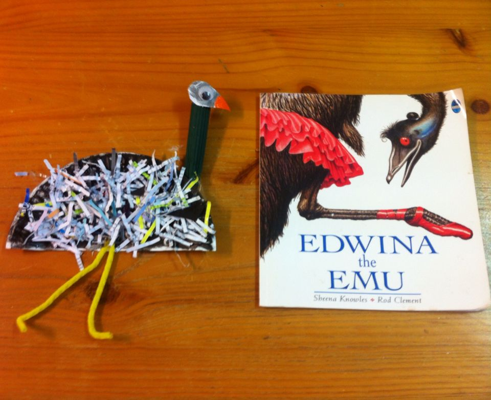 Edwina the emu storytime craft emu craft activities for Australian arts and crafts