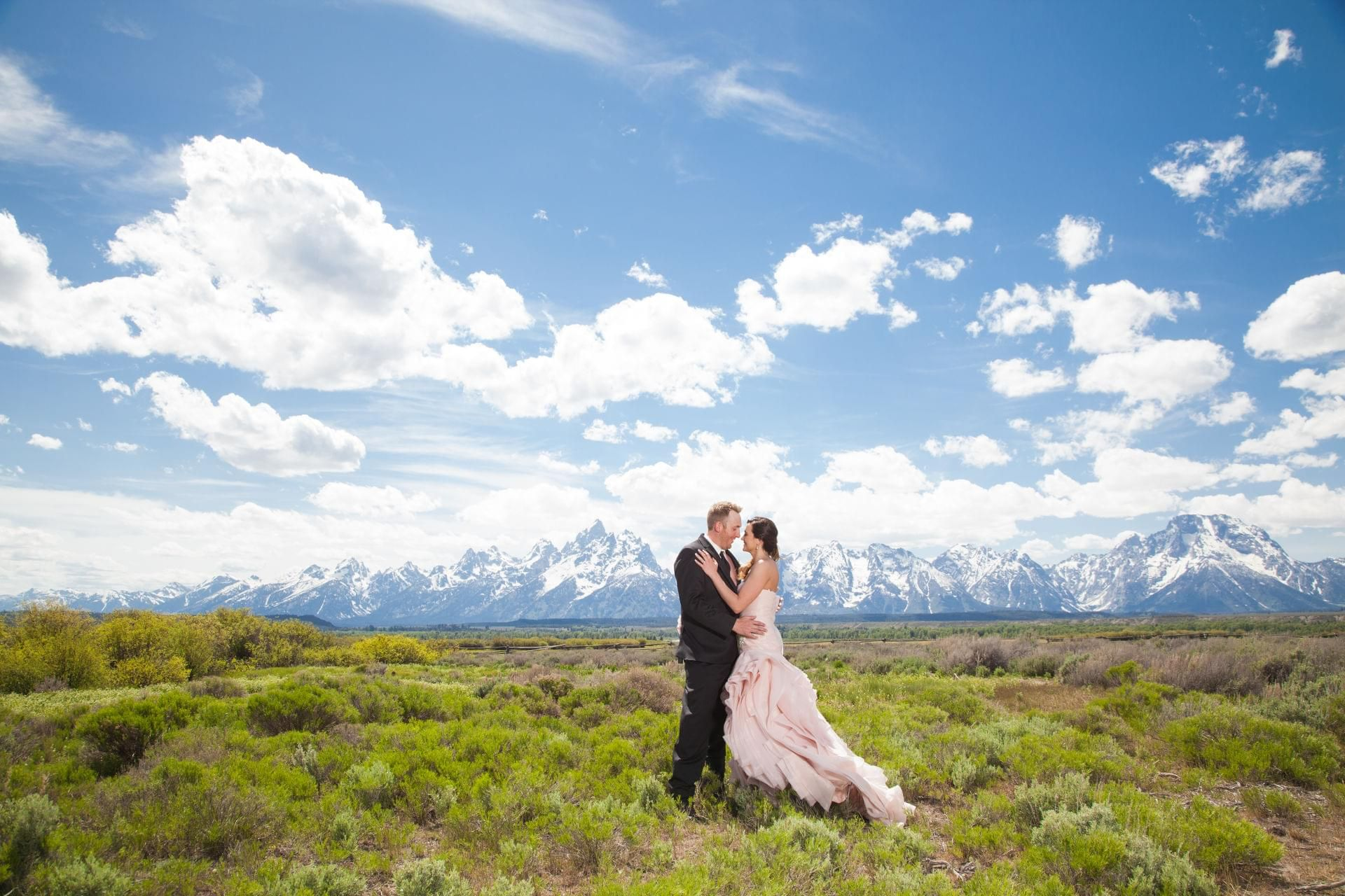 Stunning wedding amidst the majestic tetons jackson hole wy