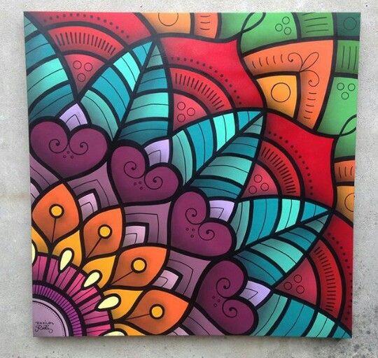 Mandala Grafite Pelo Brasileiro At Danroots Pintura Pinterest - Pinturas-de-mandalas