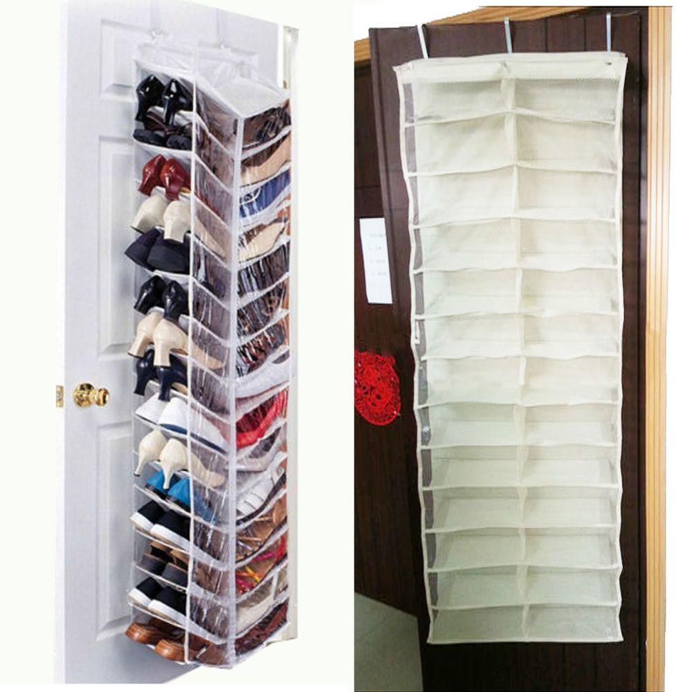 26 Pairs Over Door Room Hanging Shoe Organiser Storage Rack Shelf
