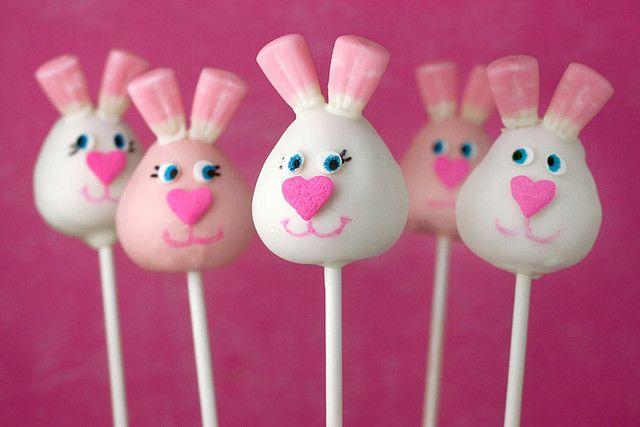 Cute bunny cake pops.