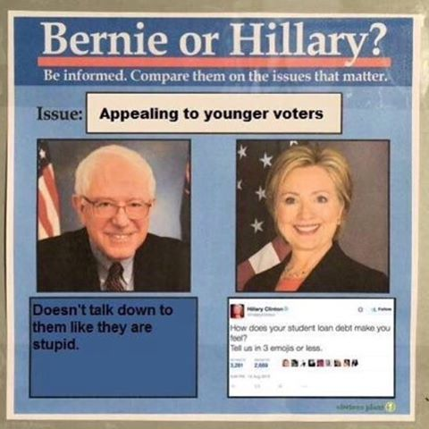 Bernie Or Hillary On Instagram Important Be Bernieorhillary Bernievshillary Berniesanders Feelthebern Berni Hillary Memes Hillarious Star Wars Memes
