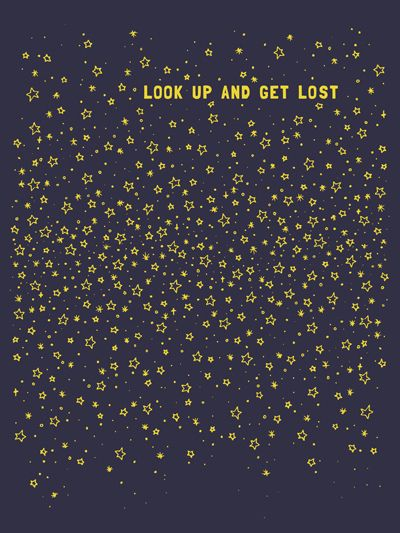 look up and get lost