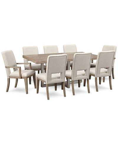 Altair Dining Furniture Set 9Pcdining Table 6 Side Chairs Delectable 2 Piece Dining Room Set Review