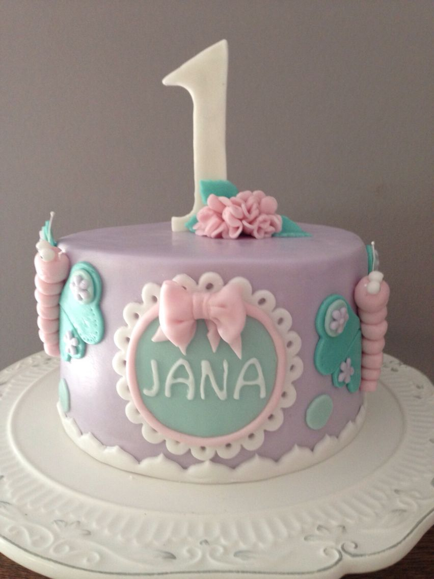 First Birthday butterfly cake Schmetterling Torte fr den 1ten