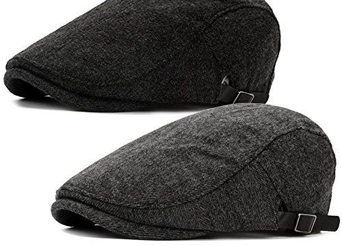 7a37be0e292 Product review for 2 Pack Men s Warm Wool Tweed Blend newsboy Flat Cap IVY  Cabbie Driving