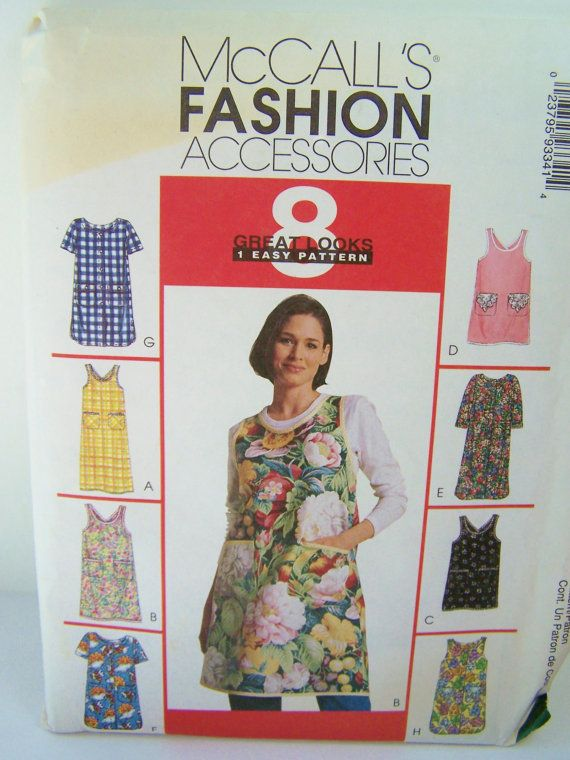 McCall's 9334 Apron Sewing Pattern, Easy to Sew Cobbler Apron, 8
