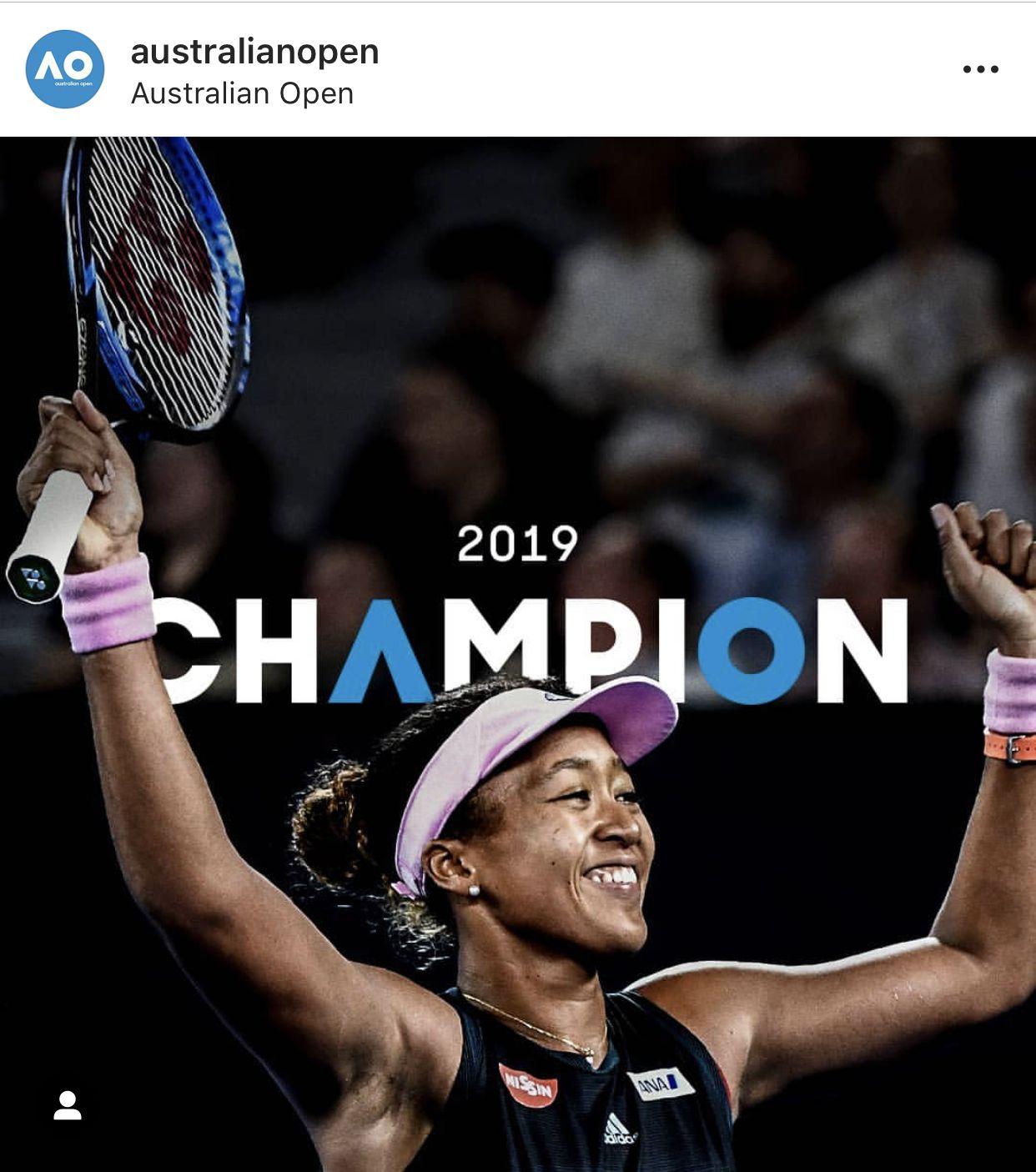 Congratulations To Naomiosakatennis And Her Team Naomiosaka Australianopen Champion Australian Open Tennis Players Female Osaka
