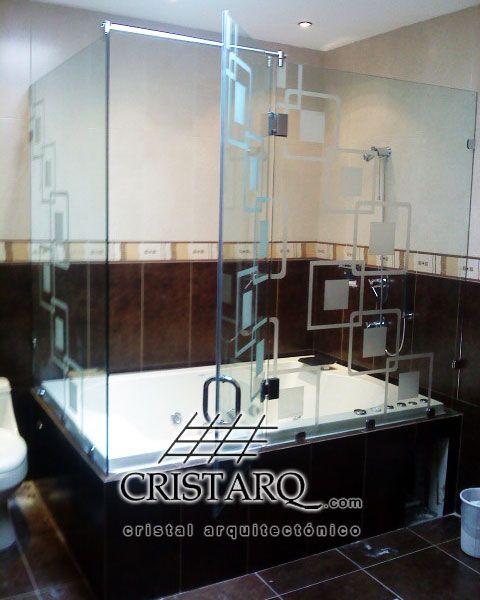 Cancel De Cristal Templado Con Decoraci 243 N En Tina De Ba 241 O