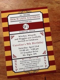 Image result for harry potter invitations harry pinterest harry potter birthday party invitation by creasestudio on etsy filmwisefo