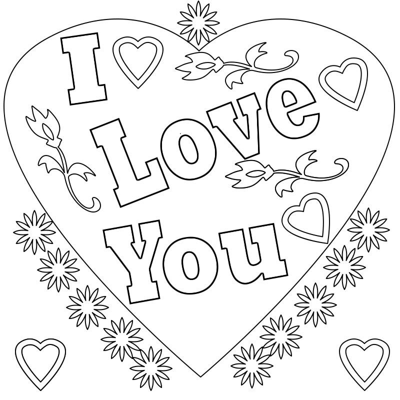 I Love You Coloring Pages To Print Love Coloring Pages Mom Coloring Pages Coloring Pages To Print