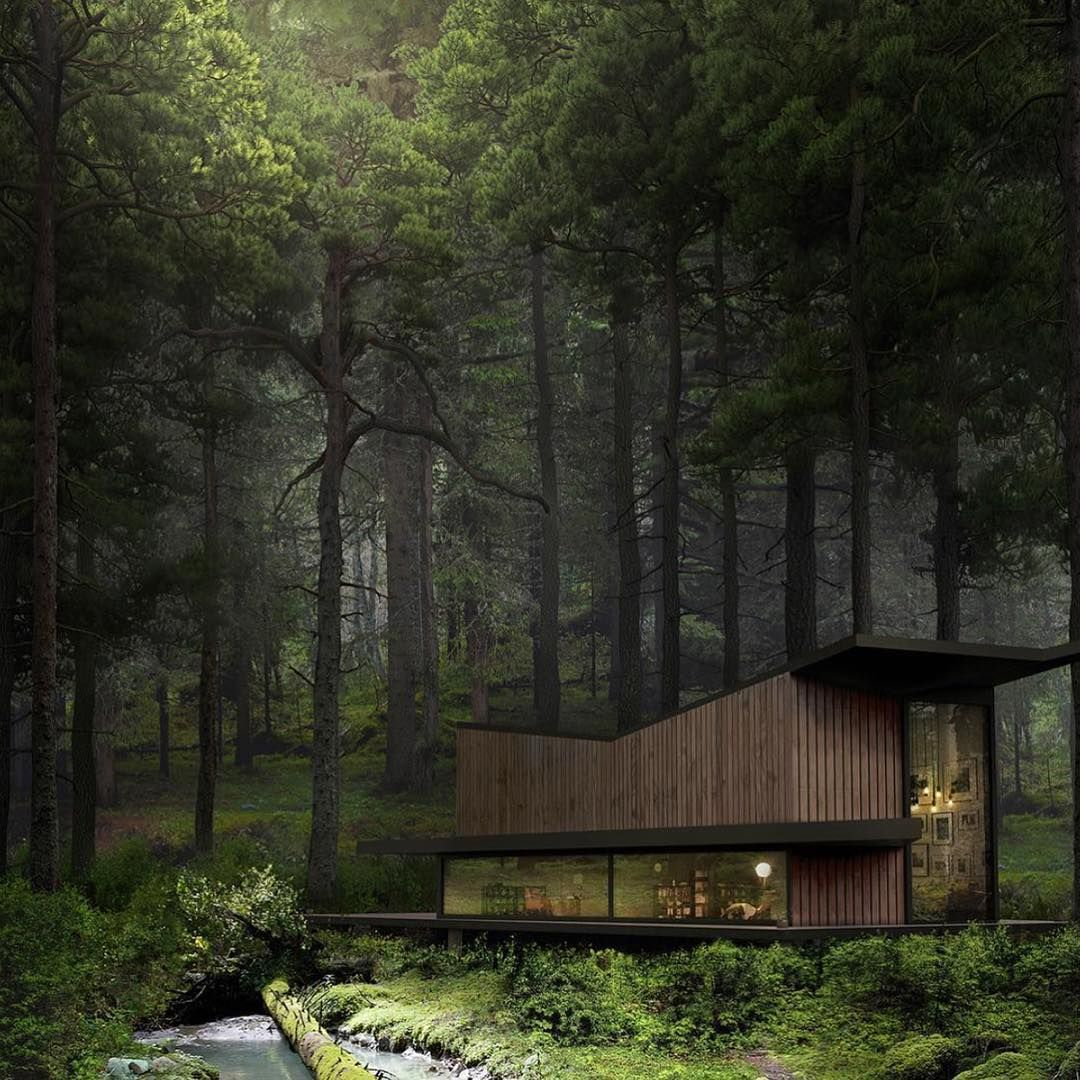 Follow @vomos they are the best lifestyle app! - The Log Residence by K2 Visual - | © All credits correspond to photographer/designer/owner/creator |