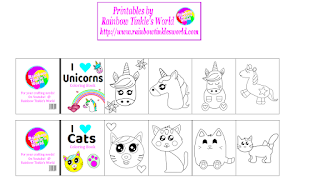 Rainbow Tinkle S World Diy Printable Miniature Coloring Books Cats Un Coloring Books Barbie Dolls Diy Barbie Books