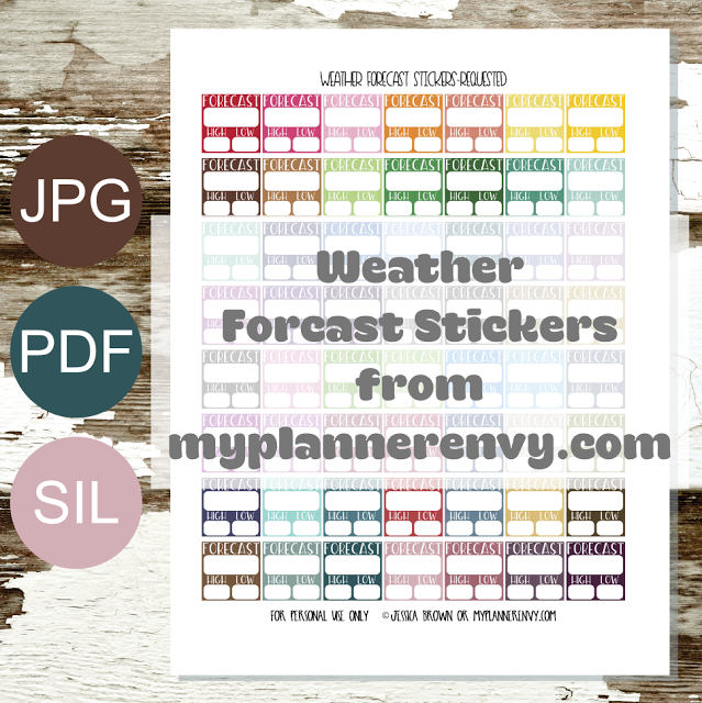 Free Printable Weather Forecast Stickers From Myplannerenvycom - Weather forecast printable