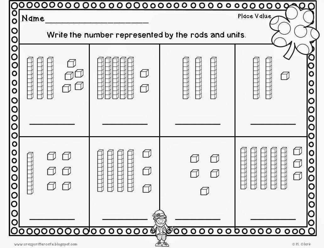 Worksheet Tens And Ones place value tens and ones st patricks day fun freebies freebies