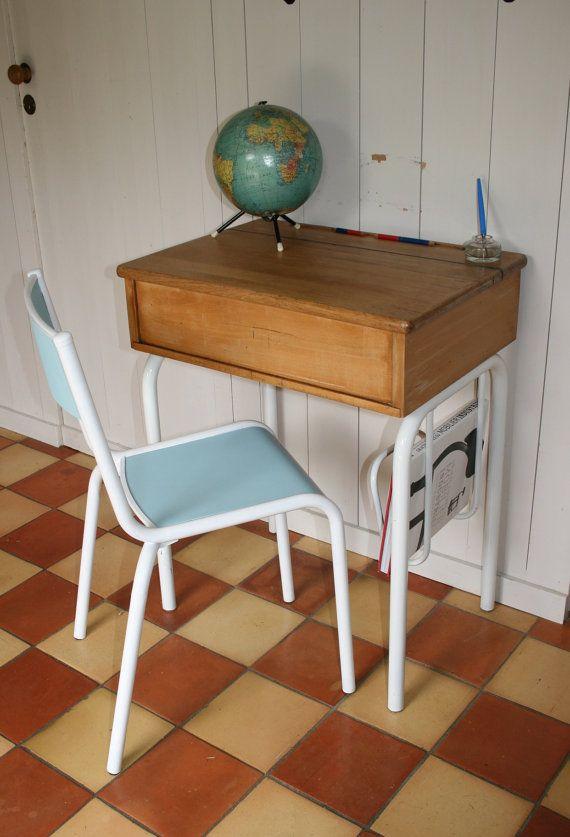 Ensemble bureau et chaise STELLA circa 1950   Déco maison, Coffre de rangement, Peinture écologique