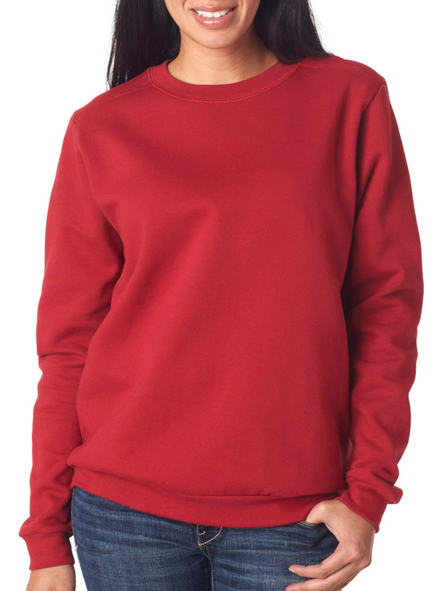 Anvil Women's Classic Fit Fleece Long Sleeve Crewneck Winter
