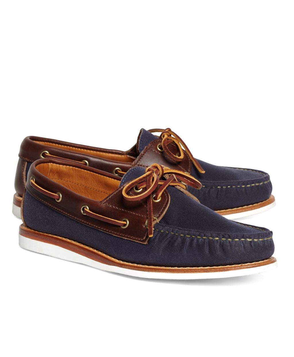 2b8590e94b Men s Rancourt and Co. Waxed Canvas Boat Shoes