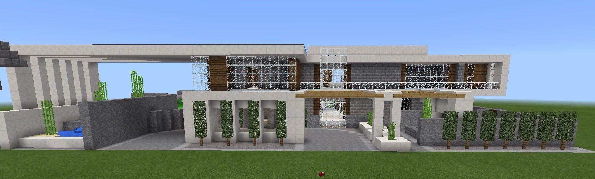 Minecraft modern house Design by keralis on YouTube Minecraft