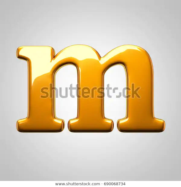 Metallic Gold Letter M Lowercase 3d Stock Illustration 690068734 Gold Letters Gold Metal Stock Illustration
