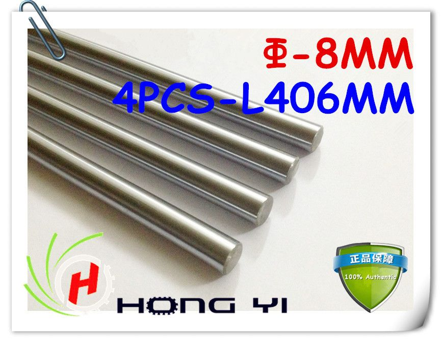 $26.50 (Buy here: http://appdeal.ru/4qdl ) 4pcs SFC8 mm - L406mm chrome plated Cylinder Linear Rail Round Rod Shaft Linear Motion Shaft for CNC XYZ for just $26.50