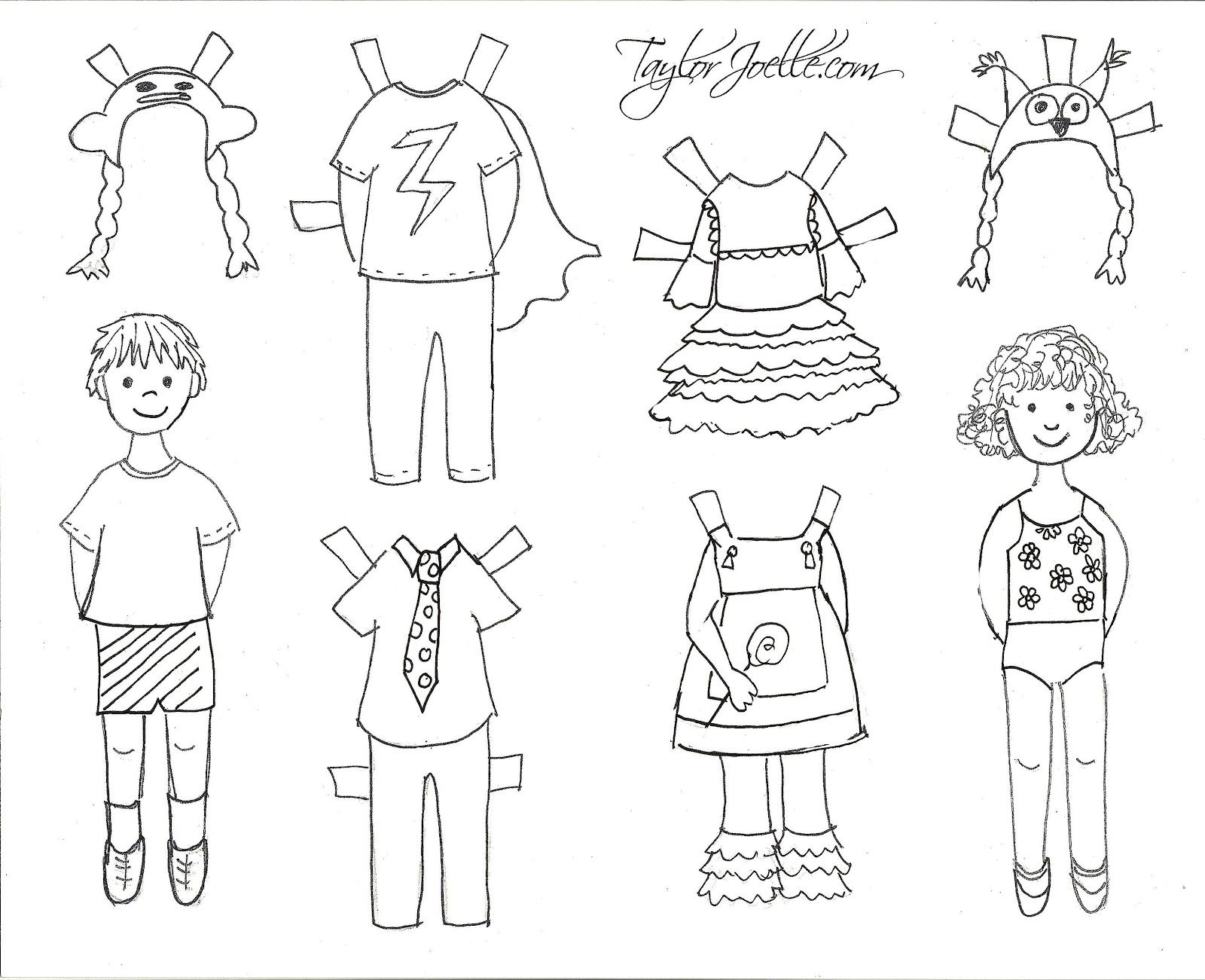 photograph about Printable Paper Dolls Template called Pinterest