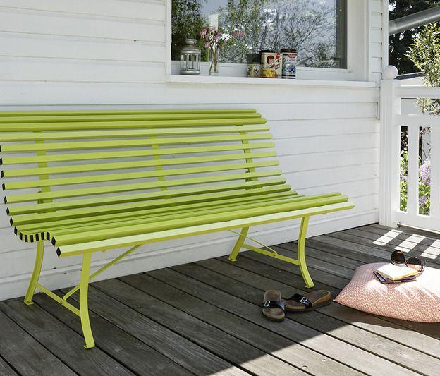 Banc 150 cm Louisiane, banc d\'extérieur pour salon de jardin ...