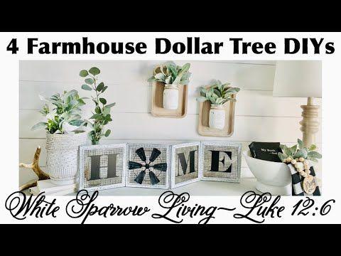 4 FARMHOUSE HOME DECOR DOLLAR TREE DIYS 2020 | CRICUT GIVEAWAY INFO | TRASH TO TREASURE