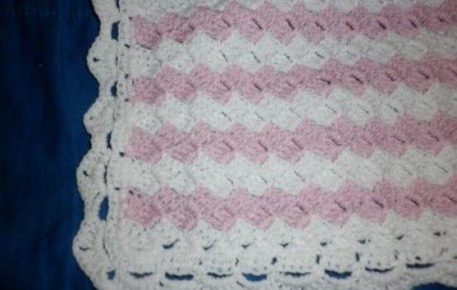 Patrones de crochet para mantillas de bebé - Imagui