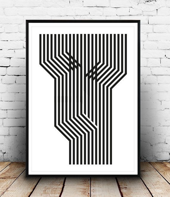 Schwarz Weiß Kunst Abstrakte Kunst Drucken Moderne Von Wallzilla