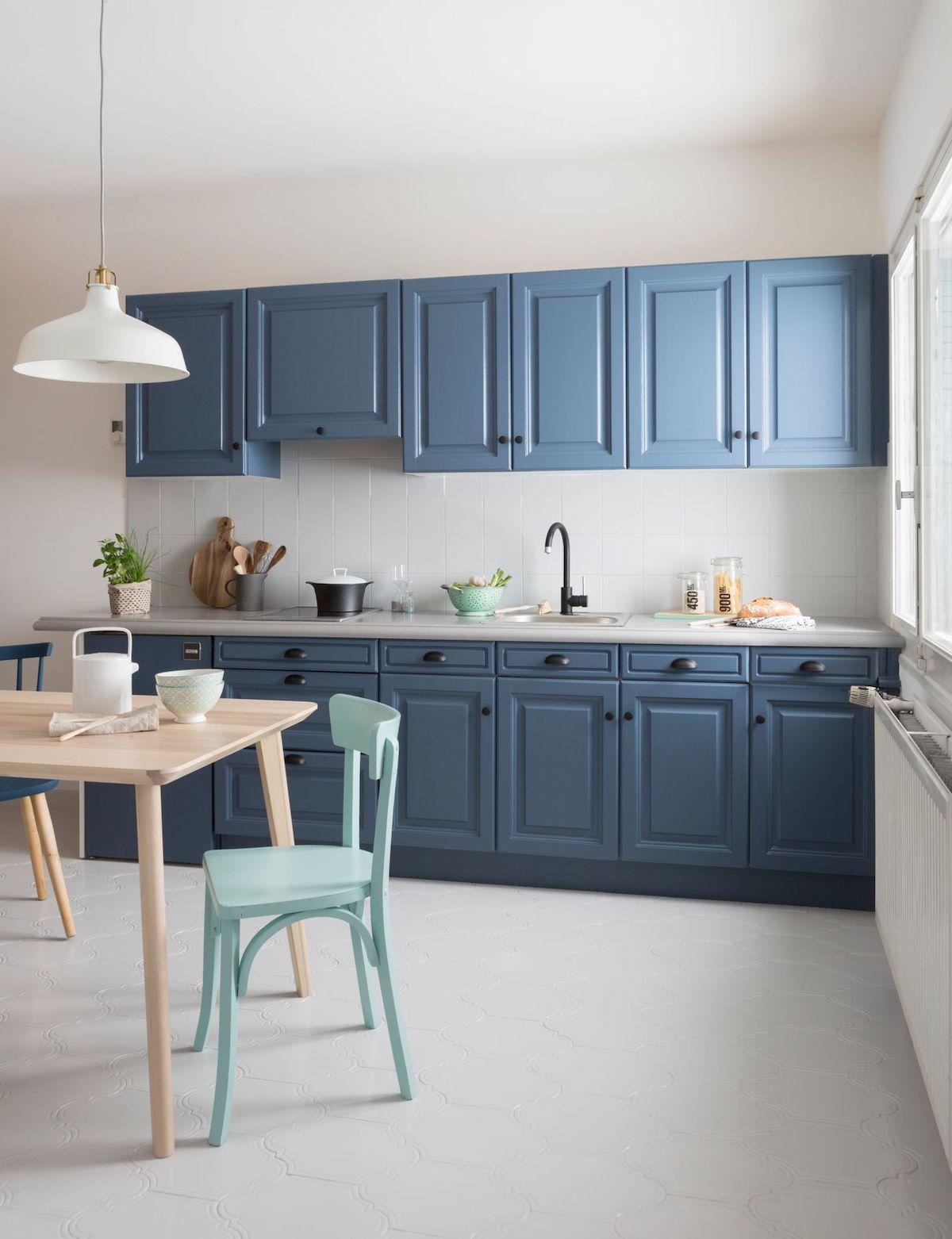 Déco cuisine blanche et bleue - Blog Déco  Home staging cuisine