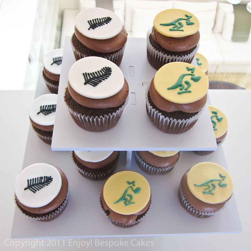 Rugby Cupcakes Created For The All Blacks And Wallabies Match